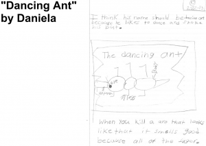 "Vote for ""Dancing Ant"" by Daniela"