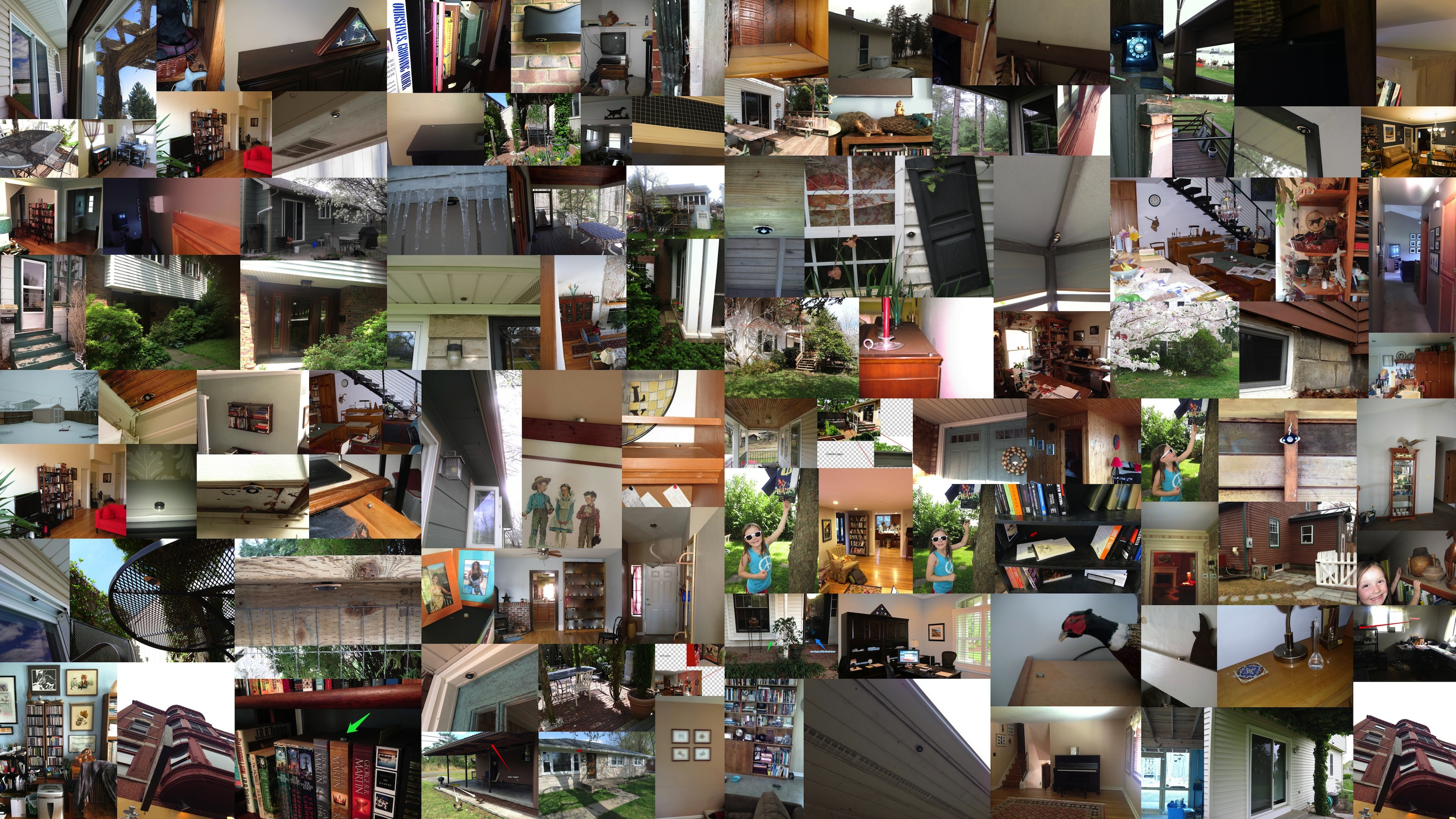 Collage of images of iButtons sent in by participants in the climate-logger study