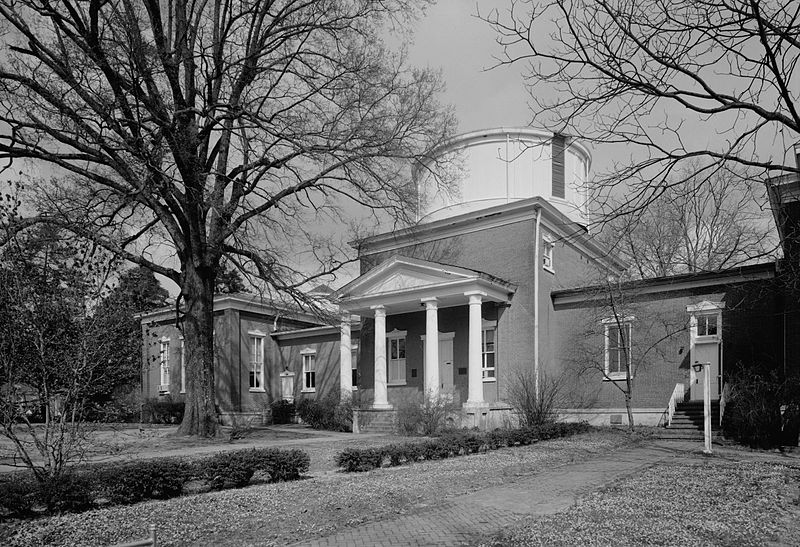 Barnard Observatory as seen in March 1975. Image credit: Library of Congress, Prints & Photographs Division, MISS,36-OXFO,12-1