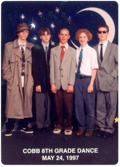 Clint's (center) middle school punk band, the Army Ants.